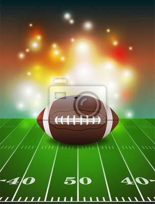 American Football auf Feldhintergrund