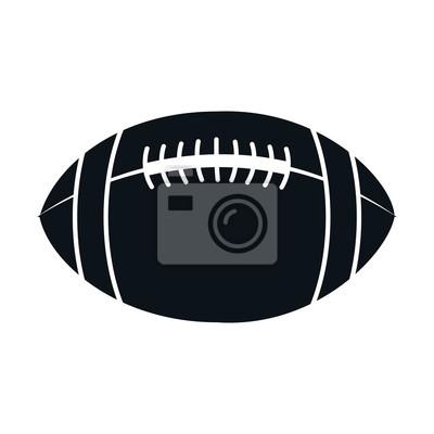 American Football Ballon Icon Vektor-Illustration Design