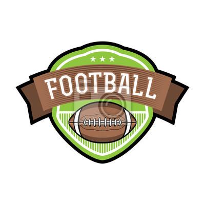 American Football Emblem Abzeichen Illustration