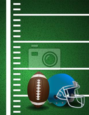 American Football-Feld Ball Helm Hintergrund