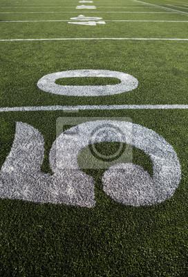 American Football Feld und Hof Linie Zahlen