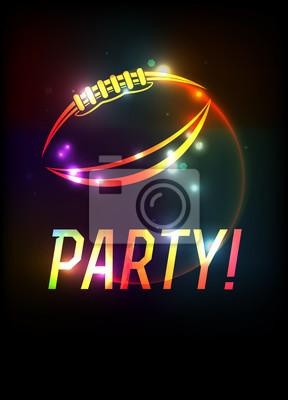 American Football Party Vorlage Hintergrund Illustration