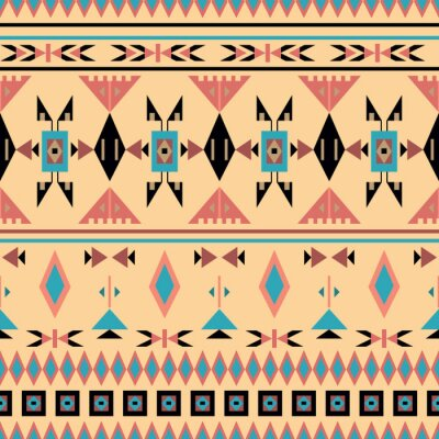 Fototapete American Indian, nahtlose Muster, Vektor-Illustration