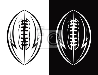 Amerikanische Fußball-Emblem-Symbol Illustration
