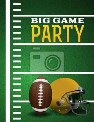 Amerikanische Fußball-große Spiel-Party Einladung