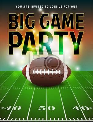 Amerikanische Fußball-Party Einladung