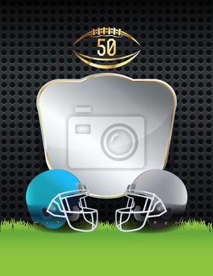Amerikanische Fußballhelm Emblem Illustration
