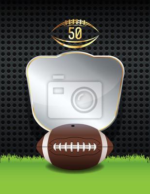 Amerikanische Fußballmeisterschaft Emblem Illustration