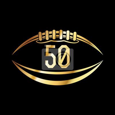 Amerikanischer Fußball 50 Emblem