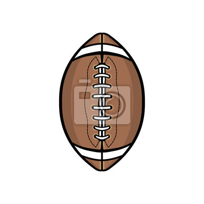 Amerikanischer Fußball-Ball lokalisiert auf weißer Illustration
