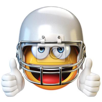 Amerikanischer Fussball Emoji Lokalisiert Auf Weissem