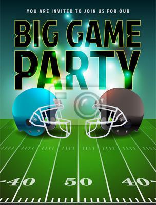 Amerikanischer Fußball-großes Spiel-Party-Plakat