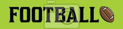 Amerikanischer Fußball und Ball Word Art Banner Illustration