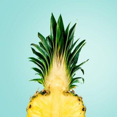 Fototapete Ananas, Obst, isoliert.