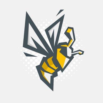 Angry Biene Vektor Cartoon Abbildung. Symbol.