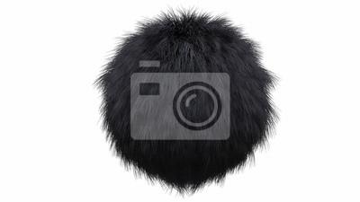 Fototapete Animal Fur in black