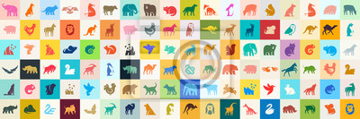 Fototapete Animals logos collection. Animal logo set