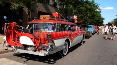 ann arbor, mi - 13. juli: buick 1957 callabro 4 door wagon at