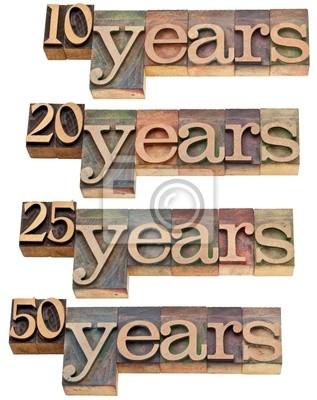 anniversary - 10, 20 ,25, 50 years