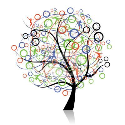 Anschließen Völker, Web-Baum