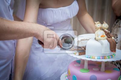 Anschneiden Der Hochzeitstorte Fototapete Fototapeten Anziehend