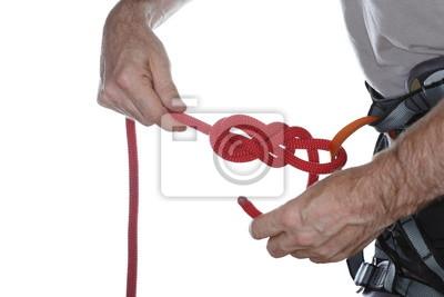 Klettergurt Selber Knoten : Anseilknoten am klettergurt fototapete u fototapeten bun