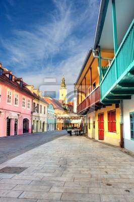 Fototapete Ansicht der alten Straße in Zagreb