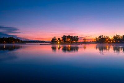 Fototapete Ansicht einer Kabine durch den See in Ontario Kanada