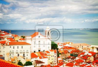 Fototapete Ansicht von Alfama, Lissabon, Portugal