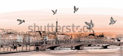 Fototapete Ansicht von Paris von