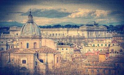 Fototapete Ansicht von Rom. Retro getonten Foto