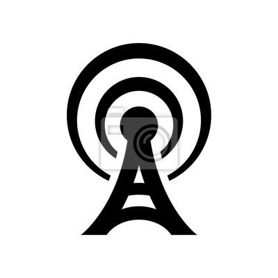 Antenne-symbol fototapete • fototapeten Sender, Wireless, Design ...