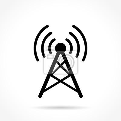 Antenne symbol auf weißem hintergrund fototapete • fototapeten wi-fi ...