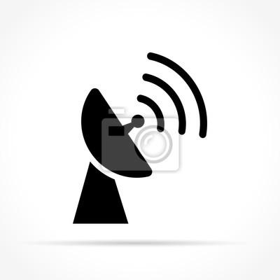 Antennen-symbol auf weißem hintergrund fototapete • fototapeten ...