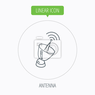 Antennensymbol. sputnik-satelliten zeichen. fototapete • fototapeten ...
