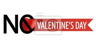 Anti Valentinstag Emblem Keine Liebe Fototapete Fototapeten Nubes