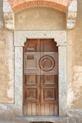 Antica porta in legno borgo italia fototapete • fototapeten italien ...