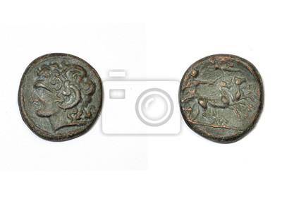 Antike Griechische Münze Alexander Der Große Und Apollo Fototapete