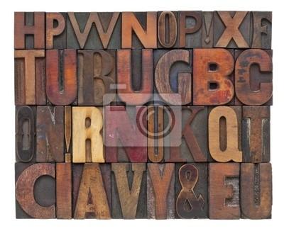 antikem Holz Typ Buchstaben