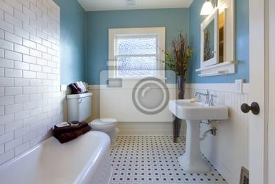 Fototapete Antiker Luxus Design Der Blauen Badezimmer