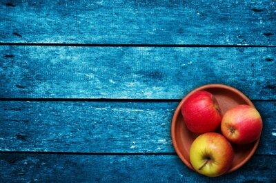 Fototapete Äpfel auf dem Tisch