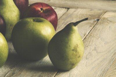 Fototapete Apfel und Birne