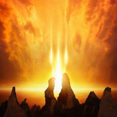Apokalyptischen Hintergrund - Gerichtstag kommt, Tor zur Hölle