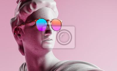 Fototapete Apollo style design background vaporwave concept. 3d Rendering.