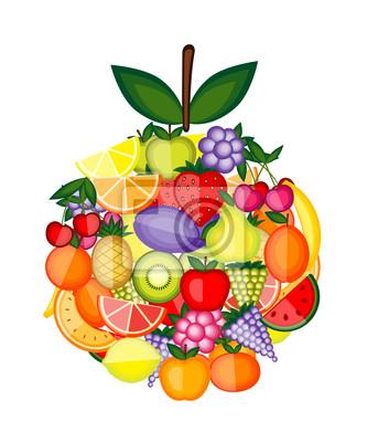 Apple-Form von Früchten für Ihren Entwurf gemacht