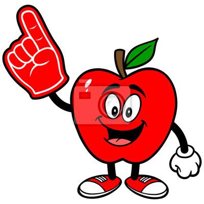 Apple mit Schaum-Finger