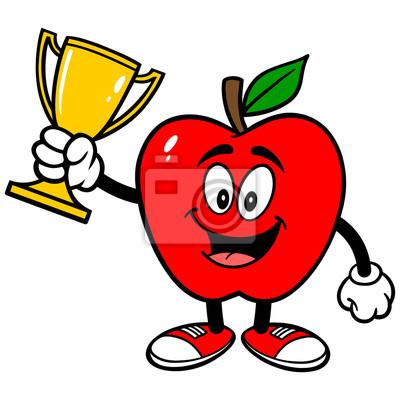 Apple mit Trophy