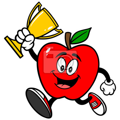 Apple-Running with Trophy