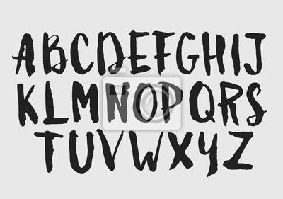 Aquarell Aquarell Schriftart handschriftliche Hand gezeichnet doodle ABC Alphabet Großbuchstaben