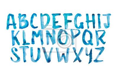 Aquarell aquarelle Schriftart handgeschrieben Hand gezeichnet doodle abc